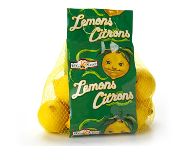 Lemon Graphic Bag